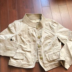 J crew broken in chino classic twill jacket sz 10 for sale